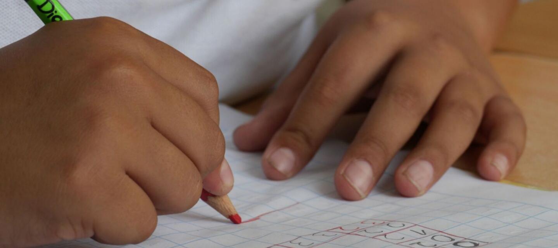 bambino scrive scuola